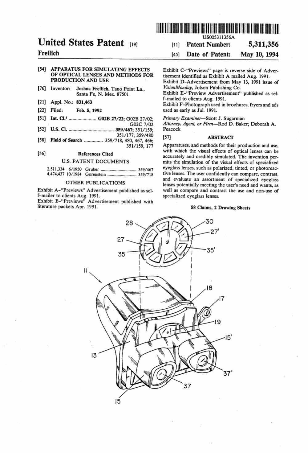 Diagnostics And Medical Technology Peacock Law Pc Part 5 204412 Engine Diagram Apparatus For Simulating Effects Of Optical Lenses Methods Production Use 5311356